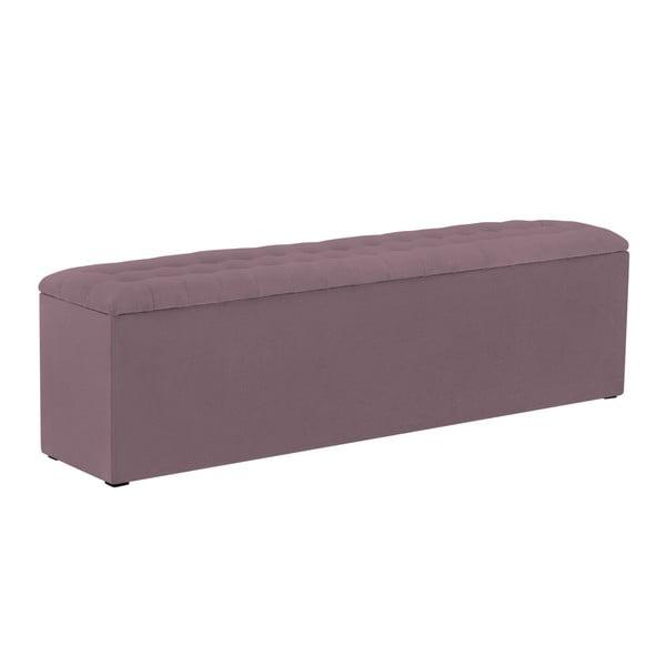 Fialový otoman s úložným prostorem Windsor & Co Sofas Nova, 160 x 47 cm