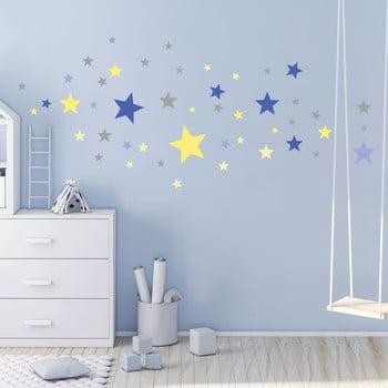 Set 50 autocolante Ambiance Stars Blue and Yellow imagine