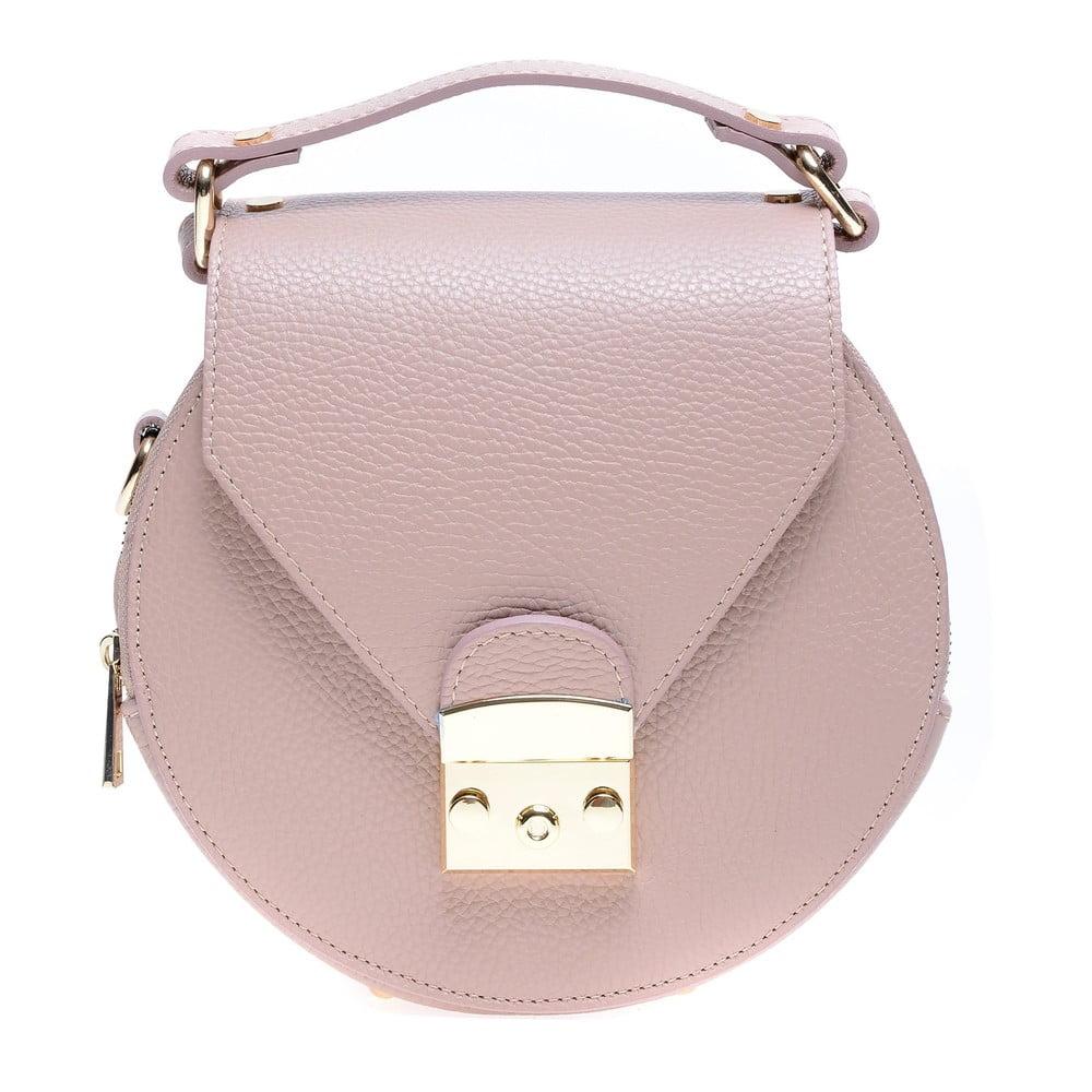 Růžová kožená kabelka Roberta M Rosa