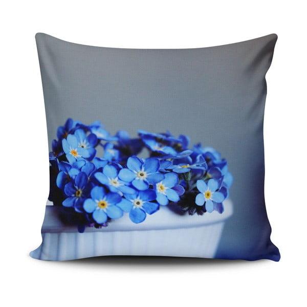 Față de pernă cu adaos de bumbac Cushion Love Azulo Gris, 45 x 45 cm