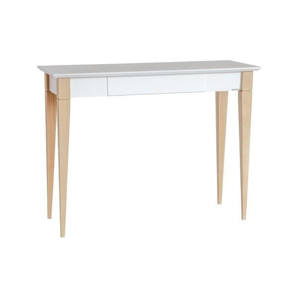 Mimo fehér íróasztal, szélesség 105 cm - Ragaba