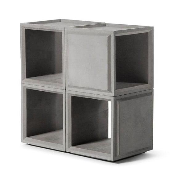Betonová čtvercová variabilní knihovna Lyon Béton Plus Combo