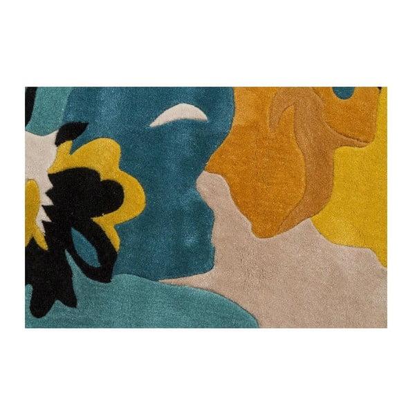 Koberec Bloom 80x150 cm, modrý