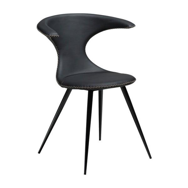 Scaun din piele DAN-FORM Denmark Flair, negru