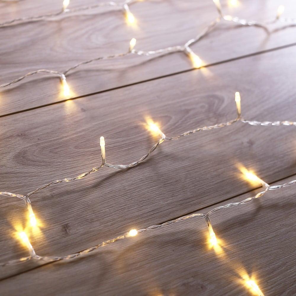 Transparentní LED světelný řetěz DecoKing Christmas, 200 světýlek, délka 1 m