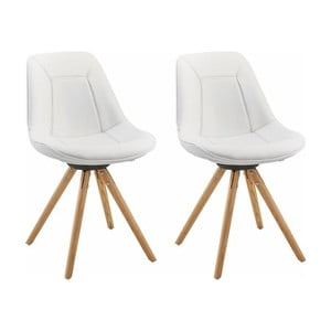 Sada 2 bílých jídelních židlí Støraa Mel