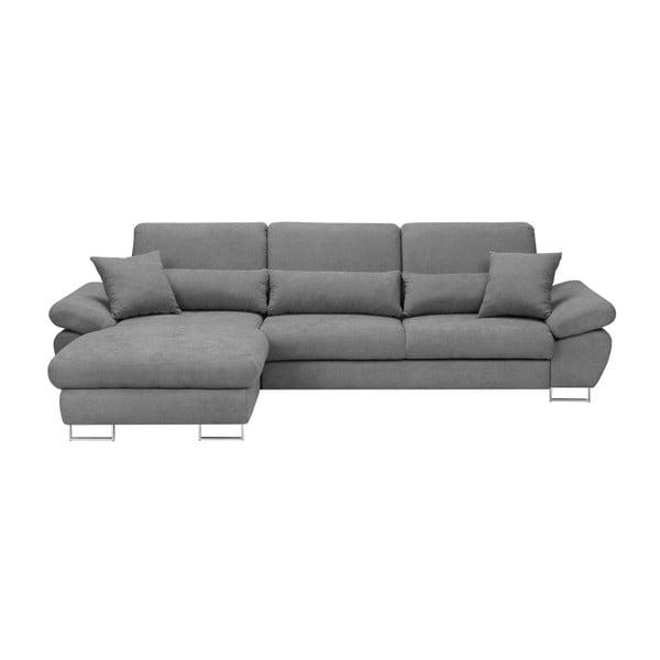 Světle šedá rozkládací rohová pohovka Windsor & Co Sofas Pi, levý roh