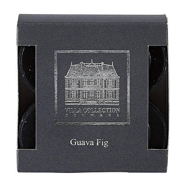Sada 8 čajových svíček s vůní kvajávy a fíku Villa Collection