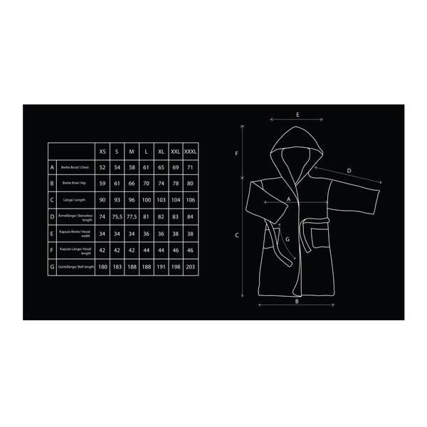 Béžový unisex župan z mikrovlákna DecoKing Sleepyhead, velikost S