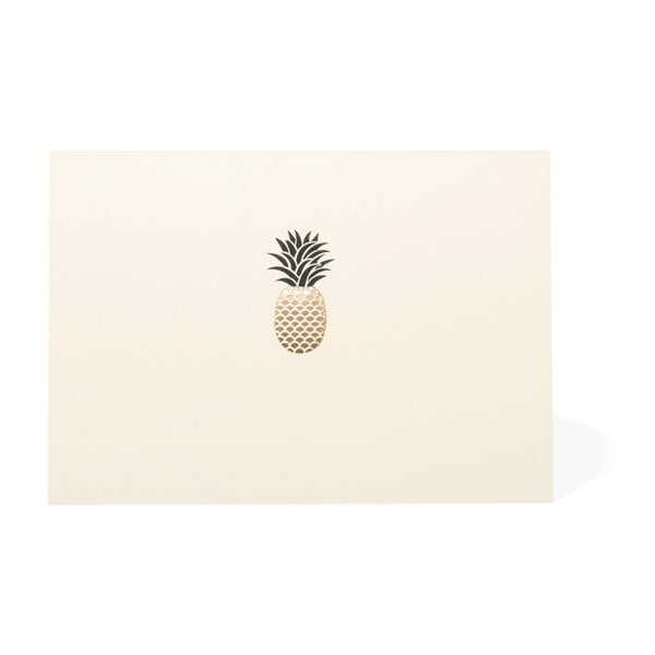 Sada 10 komplimentek s obálkami Portico Designs Pineapple