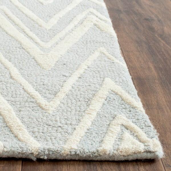 Vlněný koberec Luca Light Blue, 91x152 cm