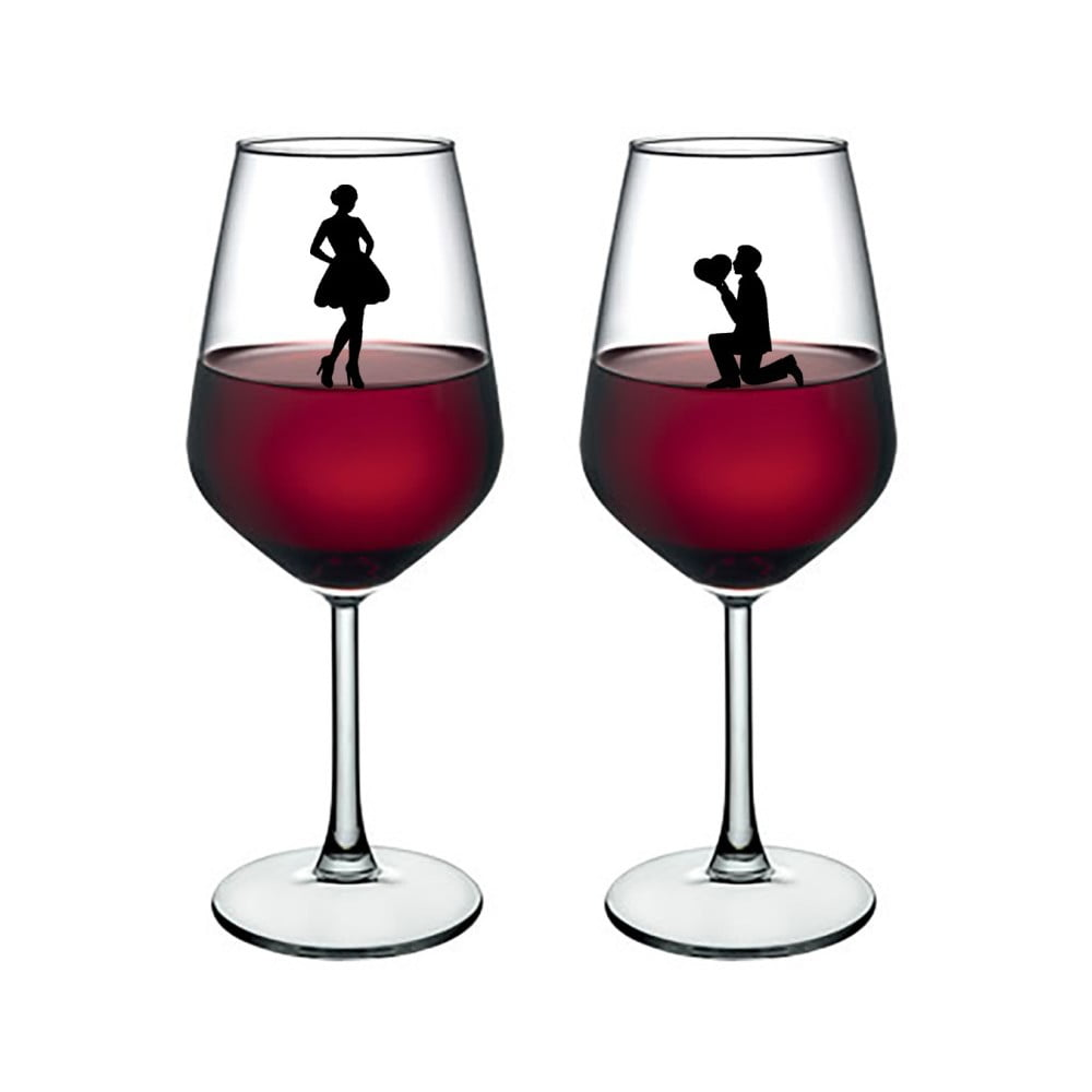 Sada 2 sklenic na víno Vivas Lovers, 345 cm
