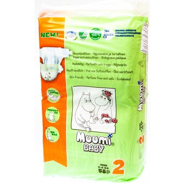 Scutece pentru bebeluși Muumi Baby Mini, mărimea 2, 3 x 58