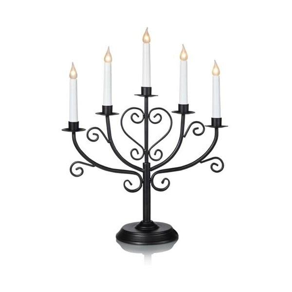 Černý svítící svícen Markslöjd Tor, výška 45 cm