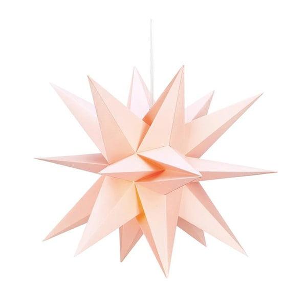 Decorațiune luminoasă suspendată Markslöjd Skillinge, ø 50 cm, roz