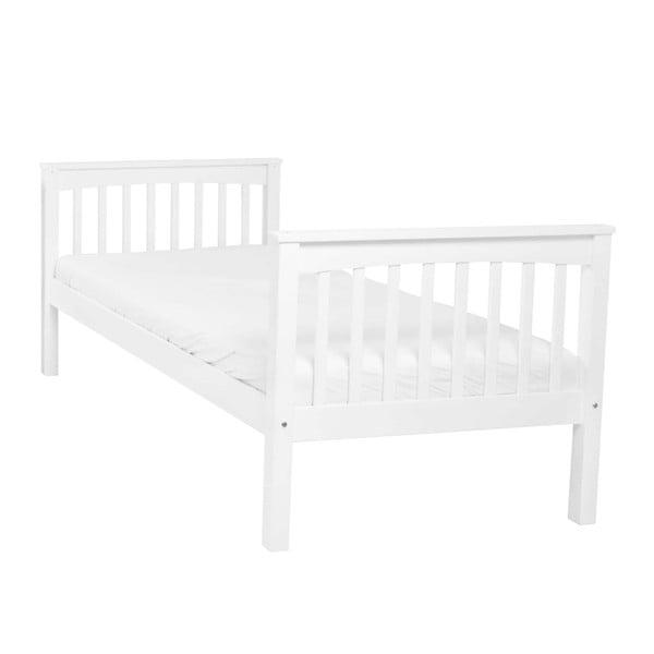 Bílá dětská jednolůžková postel z masivního bukového dřeva Mobi furniture Lea, 200x90cm