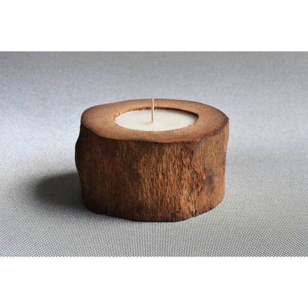Palmová svíčka Legno s vůní vanilky a pačuli, 40 hodin hoření
