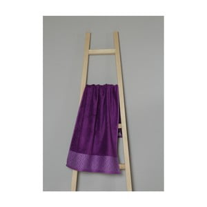 Fialový ručník z bavlny a bambusu My Home Plus Spa, 50 x 100 cm