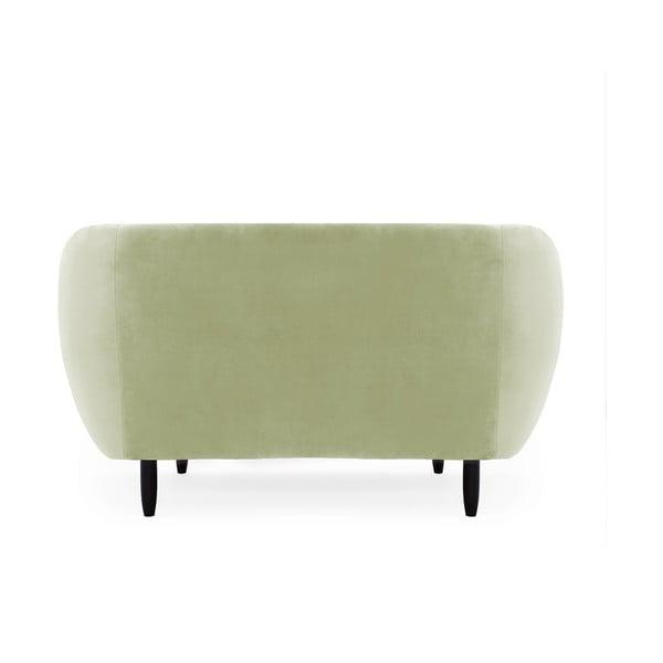 Canapea 2 locuri Vivonita Laurel, verde deschis