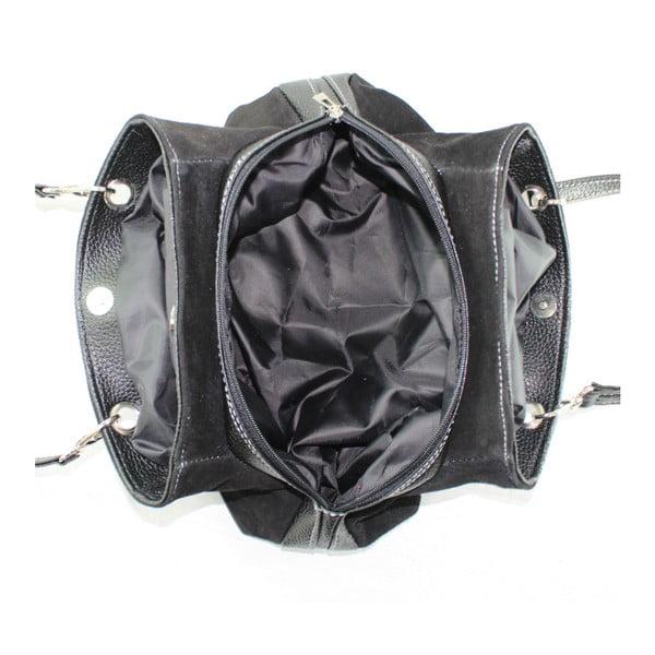 Černá kožená kabelka Chicca Borse Westo