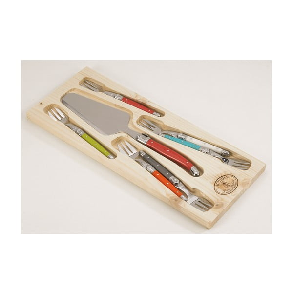 Set 7 nástrojů na dorty v dřevěném balení Jean Dubost Victoria