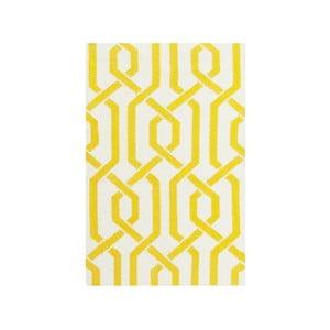 Žlutý vlněný koberec Bakero Camilla, 60x90cm