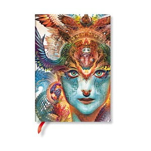 Linkovaný zápisník s měkkou vazbou Paperblanks Dharma Dragon, 13x18cm