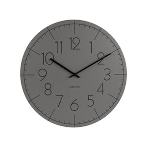 Šedé hodiny Present Time Blade Numbers