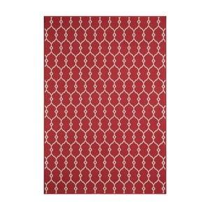 Červený vysoce odolný koberec Webtappeti Trellis Red,133x190cm