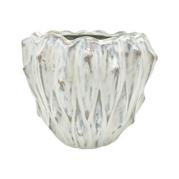 Ghiveci din ceramică PT LIVING Flora, ø 16,5 cm, alb fildeș