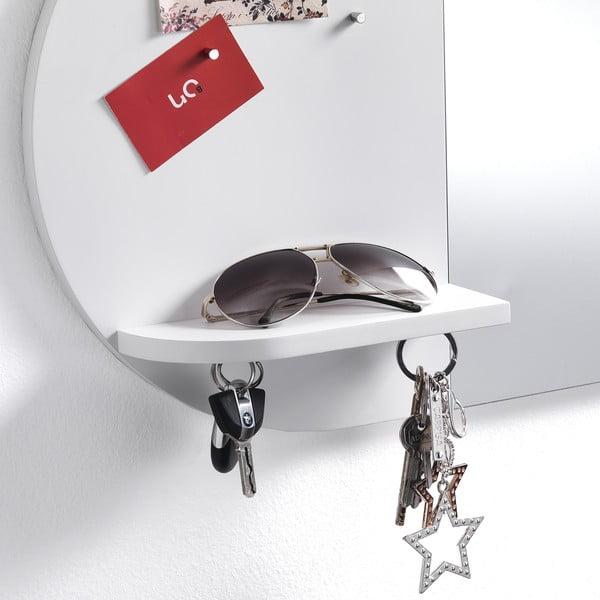Nástěnné zrcadlo s magnetickou deskou Tomasucci Reminder, 36x60x9cm