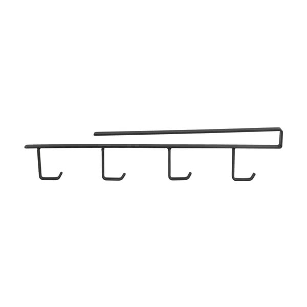 Suport 4 căni metalic pentru raft Wenko, negru