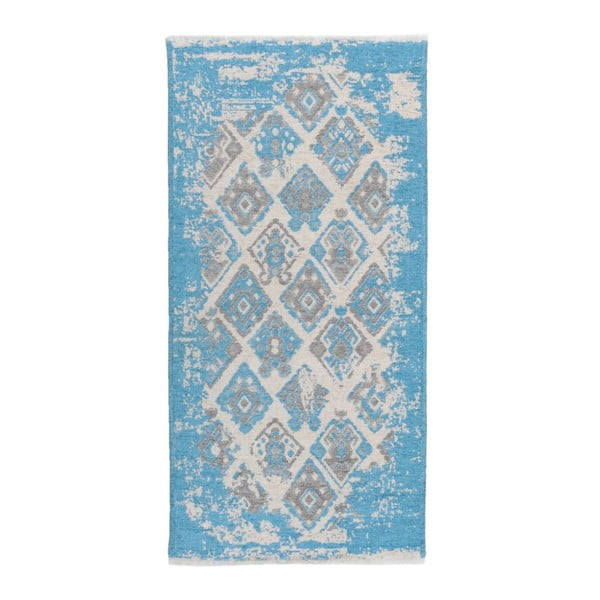 Covor reversibil Homemania Halimod Morgana, 77 x 150 cm, gri-albastru