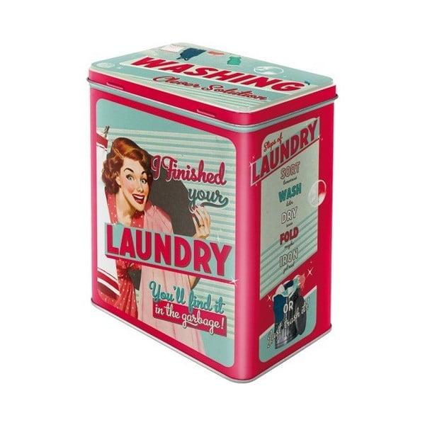 Plechová dóza Laundry, velikost L