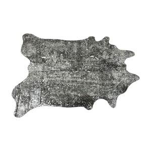 Černý koberec z hovězí kůže Kare Design Hide