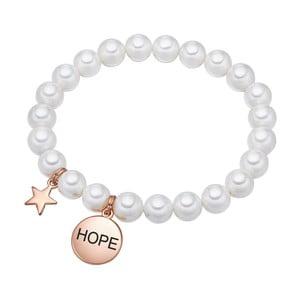 Bílý perlový náramek Pearls of London Hope,19 cm