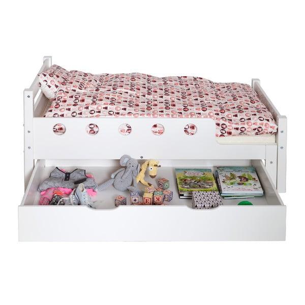 Bílá dětská nastavitelná postel Flexa White Junior, 90 x 140/190cm