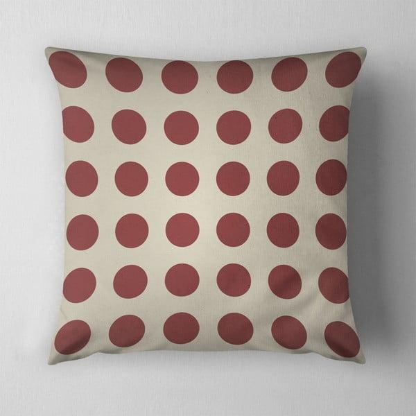 Polštář Big Red Dots, 43x43 cm