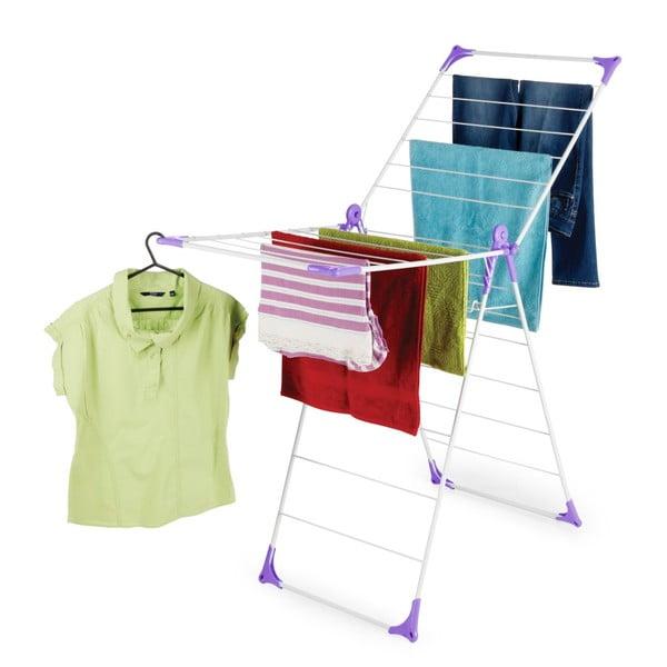 Set sušáku a kolíčků na prádlo Bonita Flora Purple, 24ks