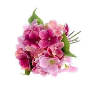 Růžová umělá květina ve stylu hortenzie Dakls