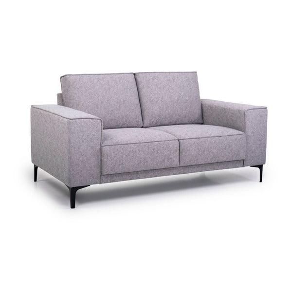 Canapea cu 2 locuri Softnord Copenhagen, gri deschis