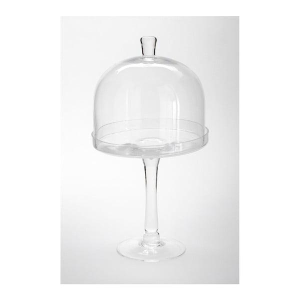 Skleněný podnos s poklopem Dome Knob, 20x38 cm