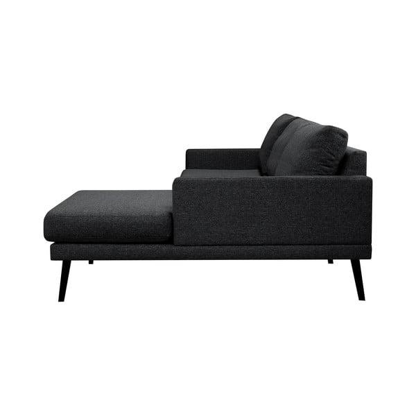 Černá rohová pohovka Windsor & Co Sofas Rigel, pravý roh