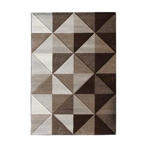 Hnědý koberec Tomasucci Optical, 140x190cm