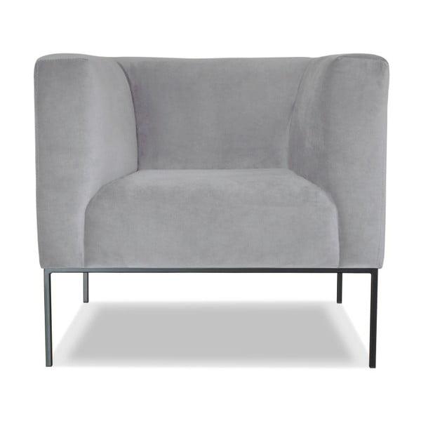 Světle šedé křeslo Windsor&Co. Sofas Neptune