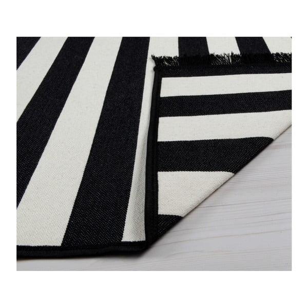 Černo-bílý oboustranný koberec Sentinus, 80 x 150 cm