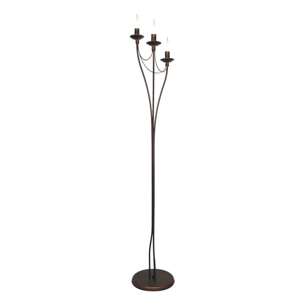 Volně stojící lampa v měděné barvě Glimte Charming, výška 164 cm