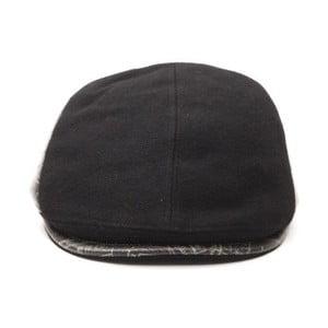 Černá pánská kožená čepice s kšiltem Alviero Martini Rosuto