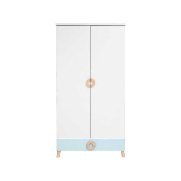 Modro-bílá šatní skříň KICOTI Circle