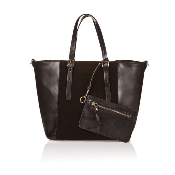 Kožená kabelka Luna, černá